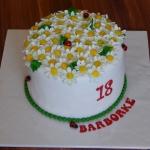 Narodeninová torta - margarétky