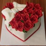 Narodeninová srdce s ružami