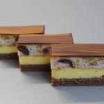 Čokoládovo - višňový rez