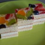 Smotanovo-tvarohová kocka - ovocná